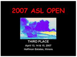 2007 Award Plaque